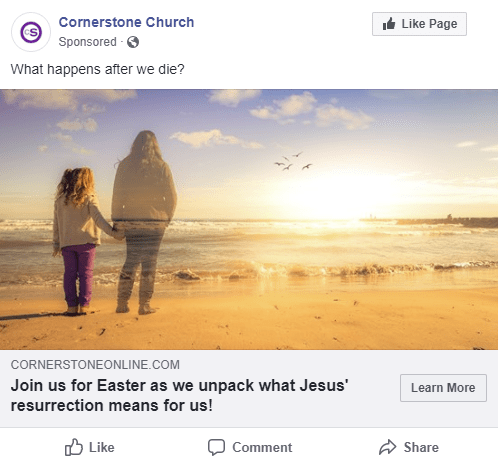 Facebook Ad Sample - Easter Resurrection Campaign